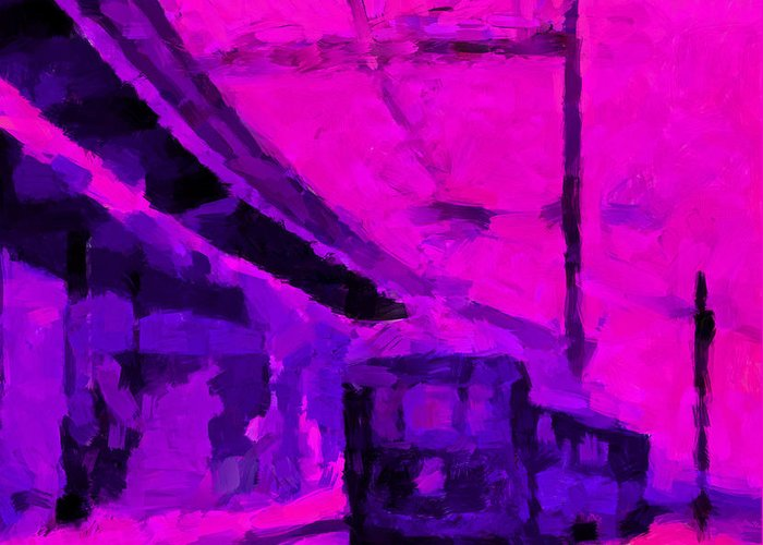 Train Greeting Card featuring the digital art The 7am Train Tnm by Vincent DiNovici
