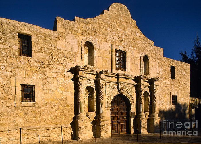 America Greeting Card featuring the photograph The Alamo by Inge Johnsson
