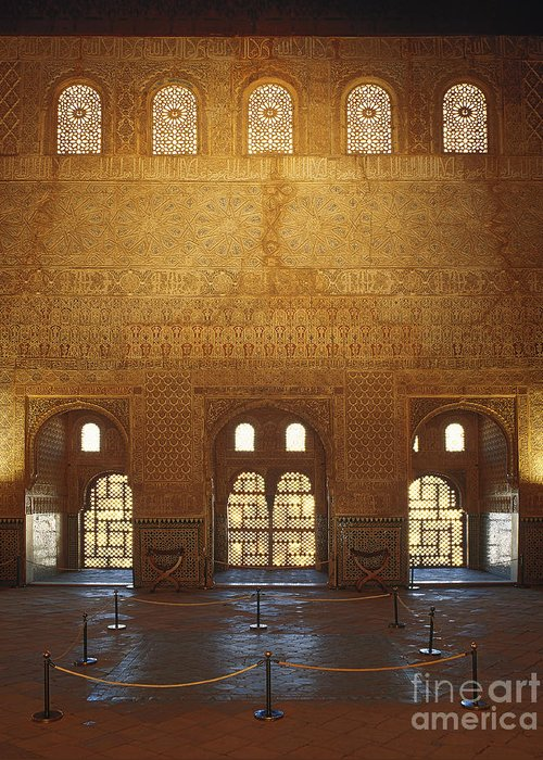 Alhambra Greeting Card featuring the photograph The Alhambra King Room by Guido Montanes Castillo