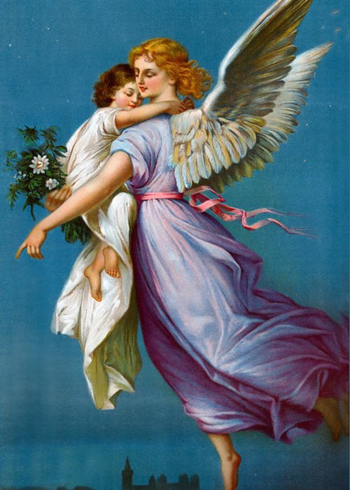 The Angel Of Peace Greeting Card featuring the digital art The Angel Of Peace by B T Babbitt