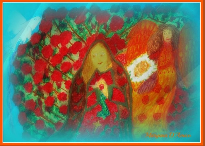 Pastels Greeting Card featuring the photograph The Annunciation by Maryann DAmico