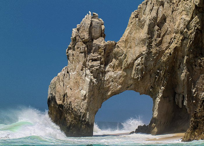 Scenics Greeting Card featuring the photograph The Arch Of Los Cabos San Lucas by Marc Javelly