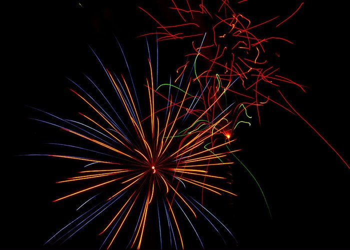 July 4th Greeting Card featuring the photograph The Art Of Fireworks by Saija Lehtonen