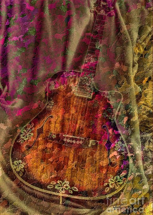 Acoustic Greeting Card featuring the photograph The Art Of Music by Steven Lebron Langston