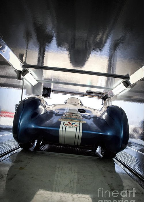 Autolight Special Greeting Card featuring the photograph The Attempt- Mickey Thompson- Metal And Speed by Holly Martin