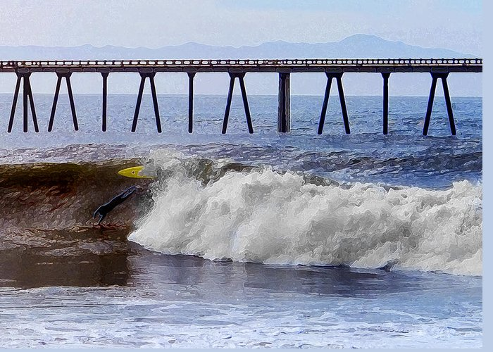 Little Rincon Greeting Card featuring the photograph The Bail Out by Ron Regalado