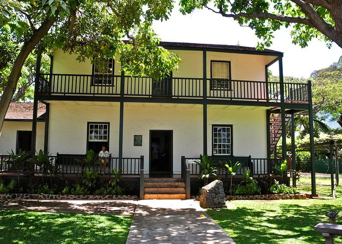 Baldwin Greeting Card featuring the photograph The Baldwin House In Lahaina I by Kirsten Giving
