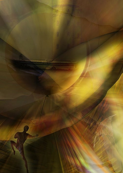 Balloon Greeting Card featuring the digital art The Balloon Master by Holger Debek