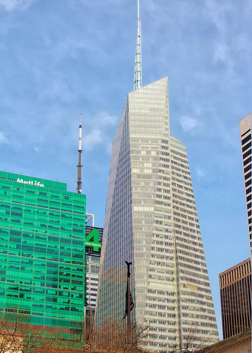 Building Greeting Card featuring the photograph The Bank Of America Building by Artistic Photos