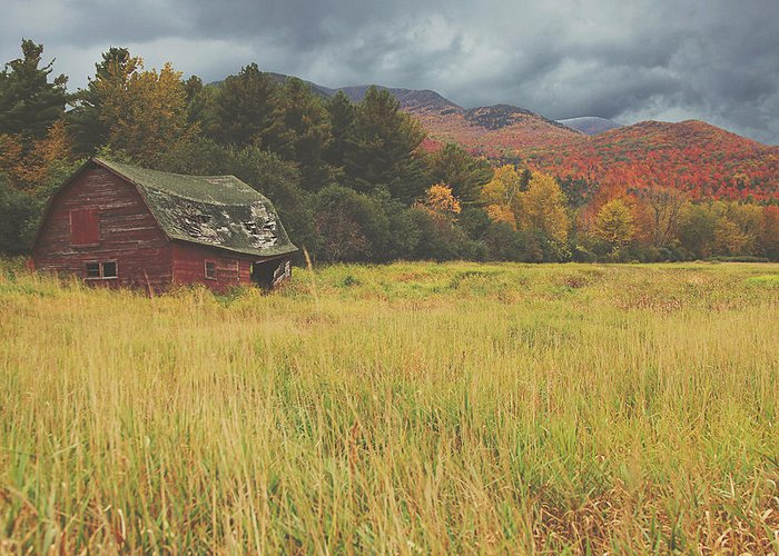 Fall Greeting Card featuring the photograph The Barn by Carrie Ann Grippo-Pike