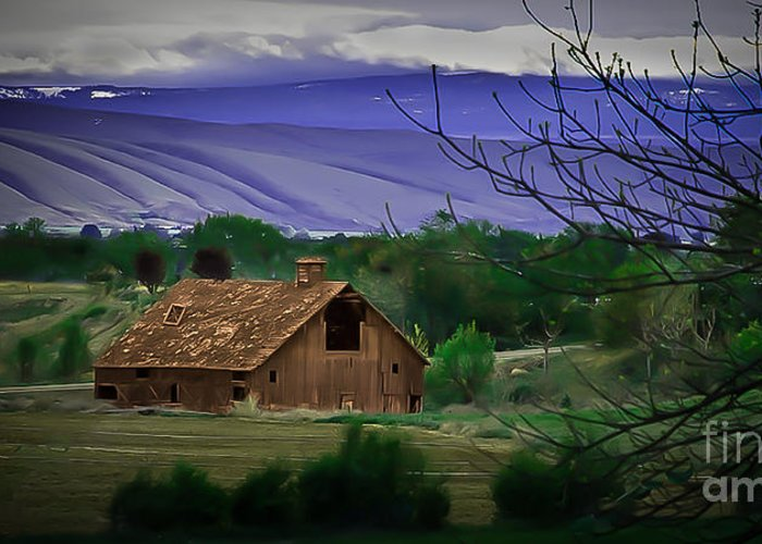 Barn Greeting Card featuring the photograph The Barn by Robert Bales