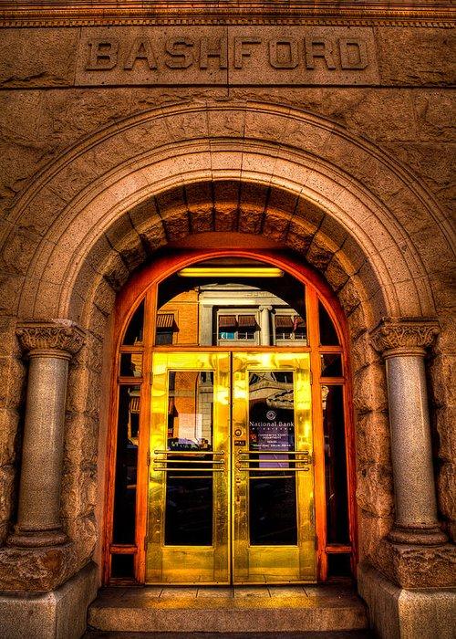 Bashford Building Greeting Card featuring the photograph The Bashford Building Prescott Arizona by David Patterson