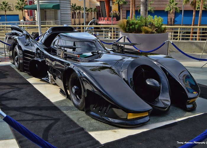 Batmobile Greeting Card featuring the photograph The Batmobile by Tommy Anderson