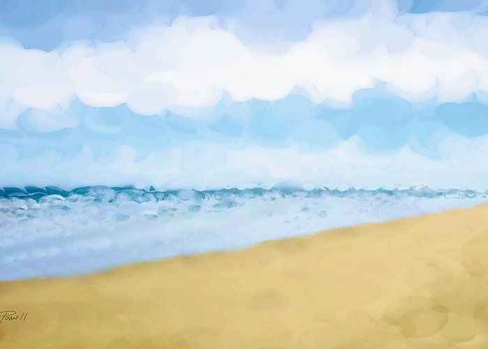 Beach Greeting Card featuring the painting The Beach Abstract Art by Ann Powell