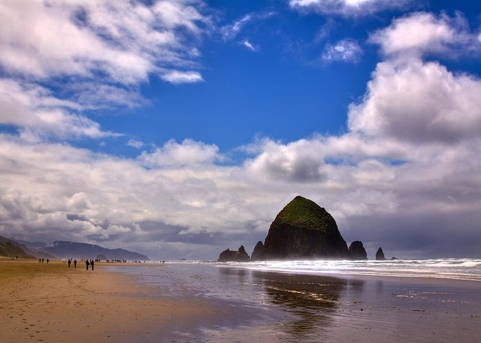 Cannon Beach Greeting Card featuring the photograph The Beautiful Cannon Beach Oregon by David Patterson