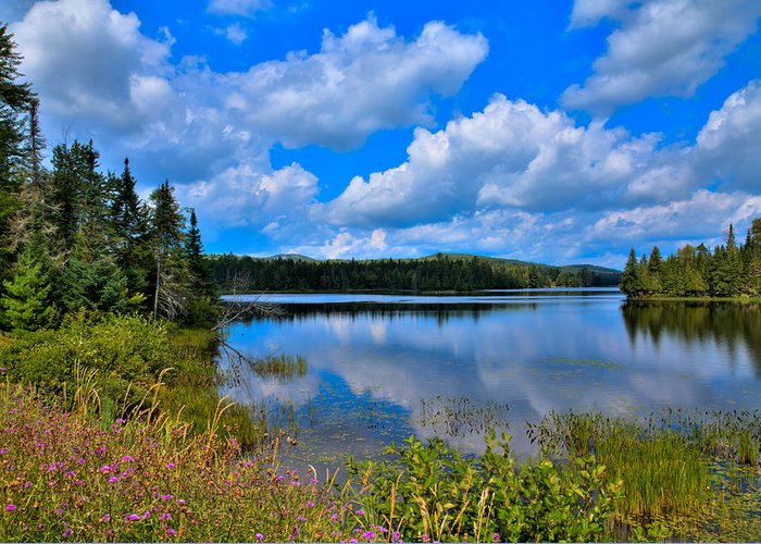 Lake Abanakee Greeting Card featuring the photograph The Beautiful Lake Abanakee New York by David Patterson