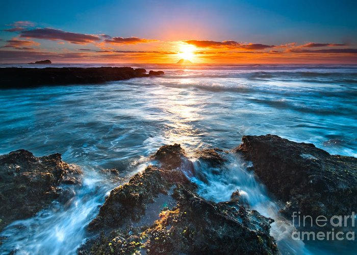 Beautiful Greeting Card featuring the photograph The Beautiful Sunset Beach by Boon Mee