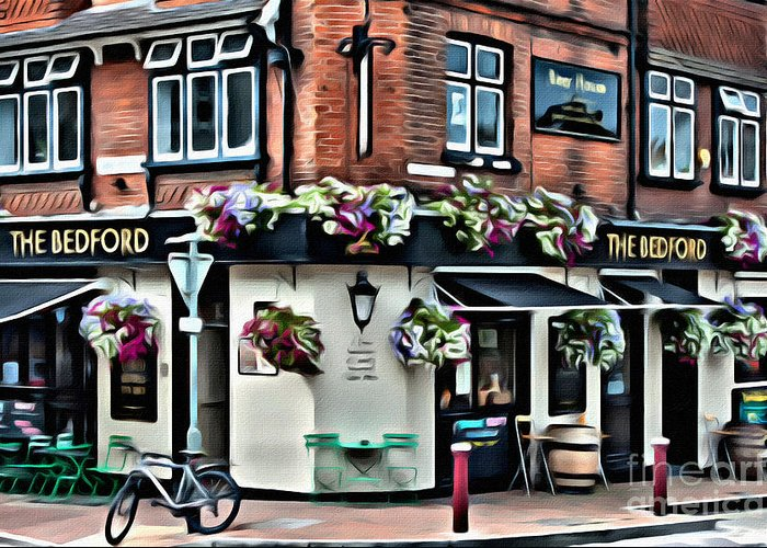Ale Greeting Card featuring the digital art The Bedford by Paul Stevens