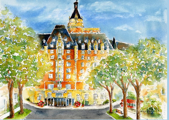 Impressionism Greeting Card featuring the painting The Bess by Pat Katz