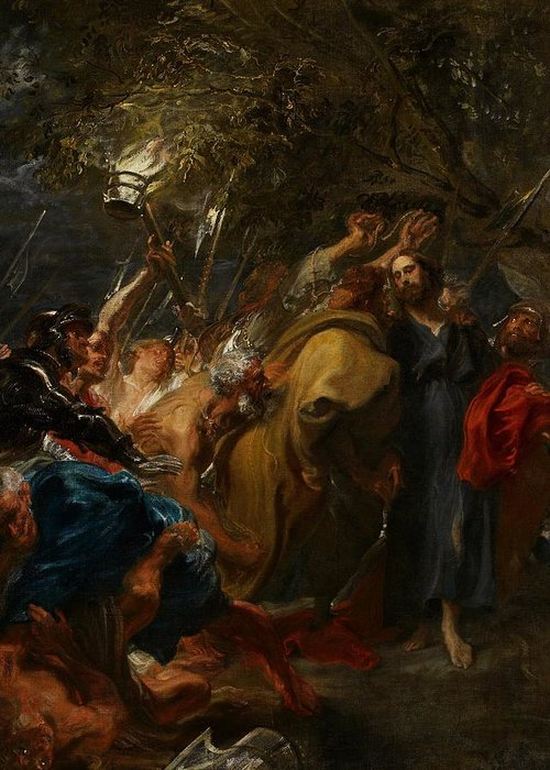 Jesus Greeting Card featuring the painting The Betrayal Of Christ by Anthony Van Dyck