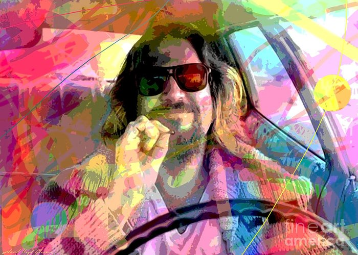 Jeff Bridges Greeting Card featuring the painting The Big Lebowski by David Lloyd Glover