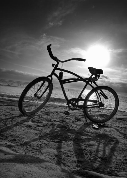Bicycles Greeting Card featuring the photograph The Bike by Peter Tellone
