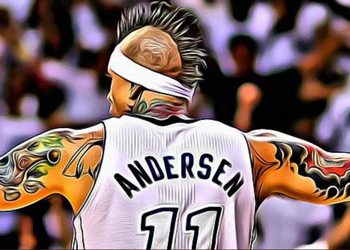 Chris Andersen Greeting Card featuring the painting The Birdman by Florian Rodarte