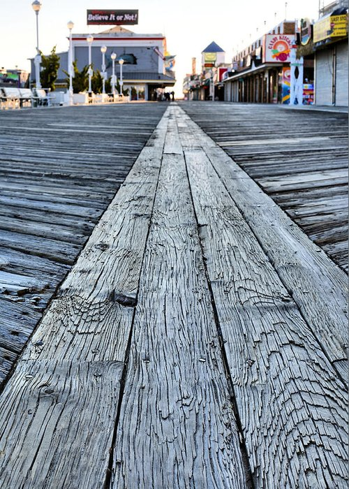 The Boardwalk Greeting Card featuring the photograph The Boardwalk by JC Findley