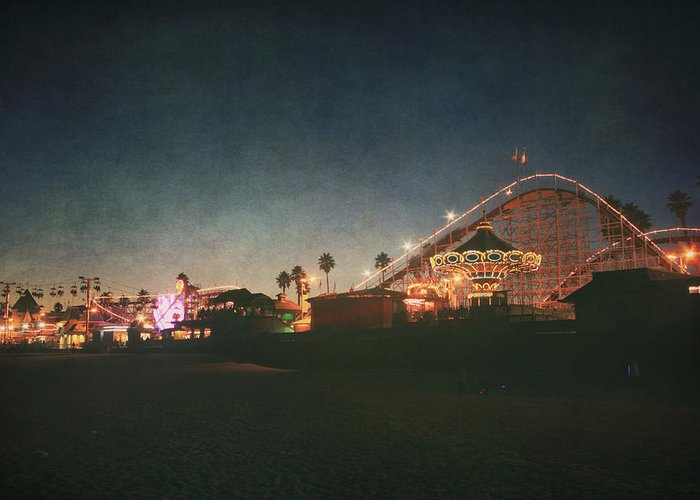 Santa Cruz Beach Boardwalk Greeting Card featuring the photograph The Boardwalk by Laurie Search