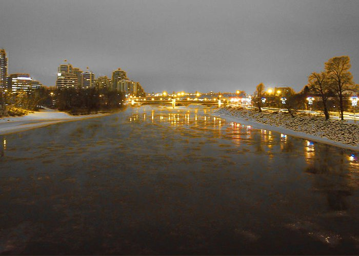 Bow River Greeting Card featuring the photograph The Bow River by David Pantuso