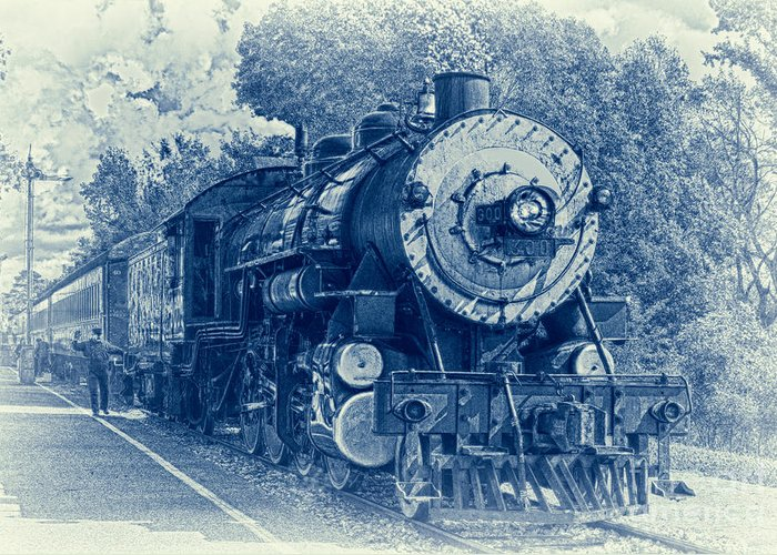 Brakeman Greeting Card featuring the photograph The Brakeman - Vintage by Robert Frederick