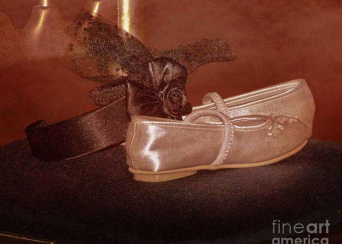 Satin Greeting Card featuring the photograph The Bridesmaid's Shoes by Terri Waters