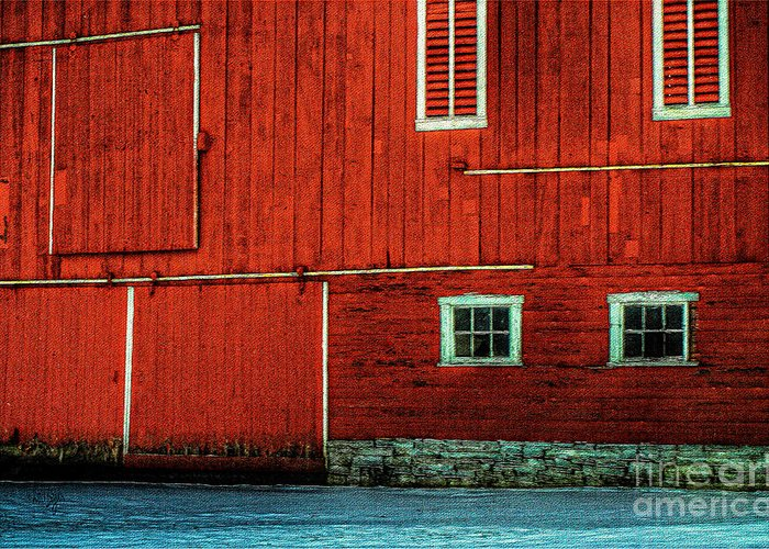 Barn Greeting Card featuring the photograph The Broad Side Of A Barn by Lois Bryan