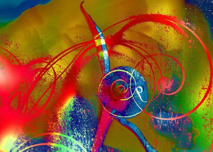Abstract Greeting Card featuring the photograph The Bud by Jeff Burgess