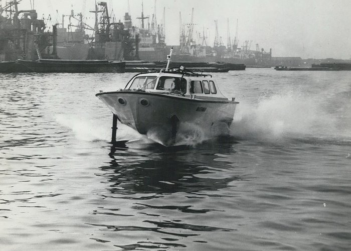 retro Images Archive Greeting Card featuring the photograph The �captain�s Barge� - 1963 Version by Retro Images Archive