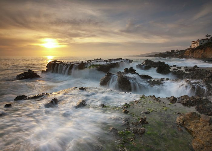 Scenics Greeting Card featuring the photograph The Cauldron - Victoria Beach by Images By Steve Skinner Photography