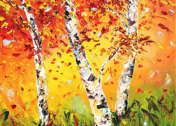 Palette Knife Greeting Cards