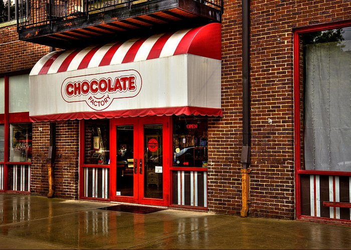 Chocolate Greeting Card featuring the photograph The Chocolate Factory by David Patterson