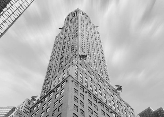 Landmarks Greeting Card featuring the photograph The Chrysler Building by Mike McGlothlen