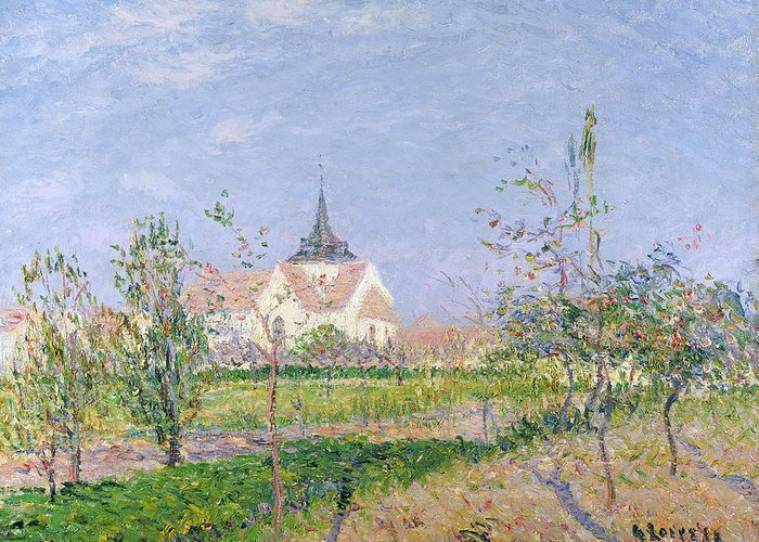 Impressionist Greeting Card featuring the painting The Church At Vaudreuil by Gustave Loiseau