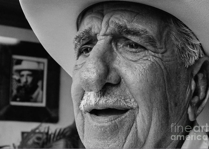 Old Man Greeting Card featuring the photograph The Cigar Maker by Rene Triay Photography