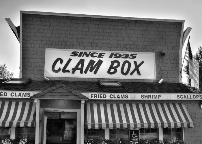 Clam Box Greeting Card featuring the photograph The Clam Box by Joann Vitali