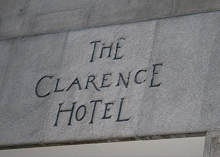 The Clarence Hotel Greeting Card featuring the photograph The Clarence Hotel Owned By U2 by Melinda Saminski