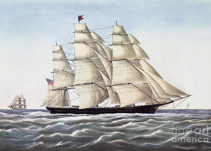 Sailboat Drawings Greeting Cards