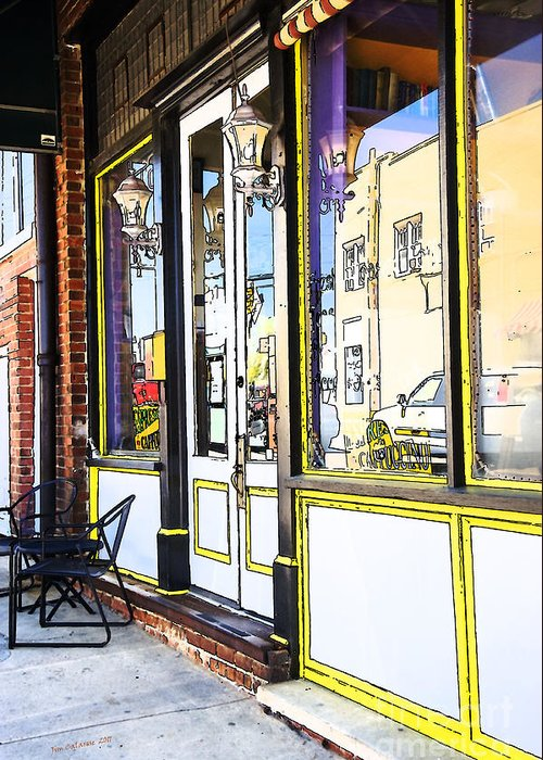 Quaint Coffee Shop In Old Building In North Carolina Greeting Card featuring the photograph The Coffee Shop by Jim Calarese