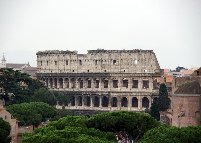 Rome Greeting Card featuring the photograph The Coliseum by Debi Demetrion