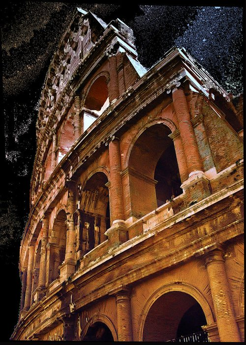 Asylum Greeting Card featuring the photograph The Colisium by Perry Frantzman
