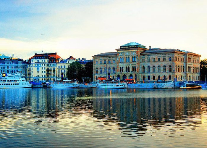 Landscape Greeting Card featuring the photograph The Colors Of Stockholm by Jenny Hudson