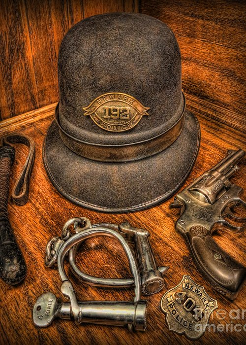 Police Greeting Card featuring the photograph The Copper's Gear - Police Officer by Lee Dos Santos