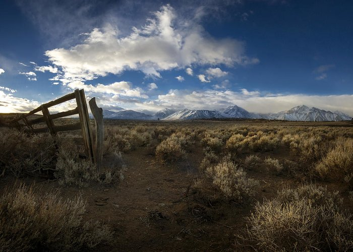 Eastern Sierra Greeting Card featuring the photograph The Corral by Sean Foster